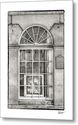 Original Art For Sale In Black And White Metal Print by Brenda Bryant