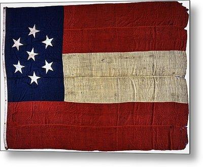 Original Stars And Bars Confederate Civil War Flag Metal Print by Daniel Hagerman