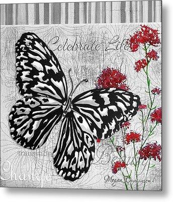 Original Inspirational Uplifting Butterfly Painting Celebrate Life Metal Print