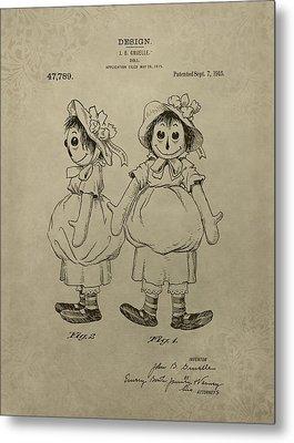 Original Raggedy Ann Doll Metal Print