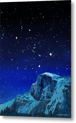 Orion Over Halfdome Metal Print by Douglas Castleman