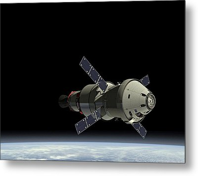 Orion Service Module Metal Print by Movie Poster Prints