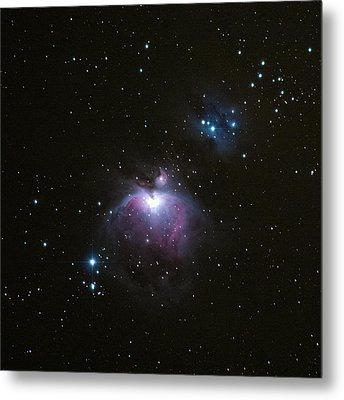 Orion's Sword In The Winter Sky Metal Print by Mike Berenson