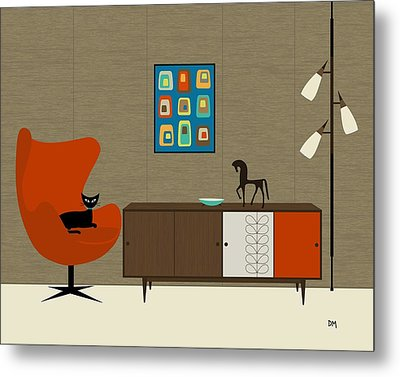 Orla Kiely Cabinet Metal Print by Donna Mibus