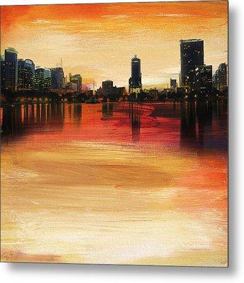 Orlando City Skyline  Metal Print