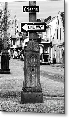 Orleans One Way Metal Print