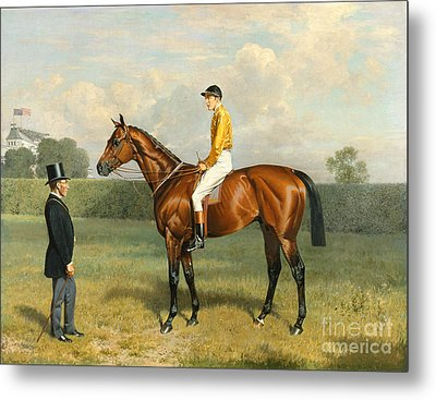 Ormonde Winner Of The 1886 Derby Metal Print by Emil Adam