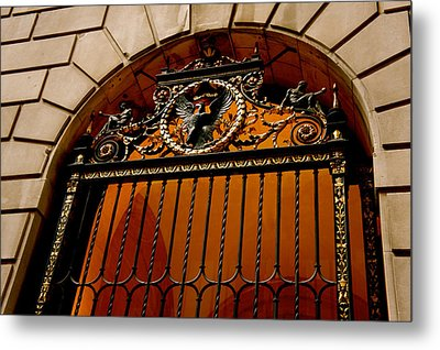 Ornate Arched Door Metal Print by Art Spectrum