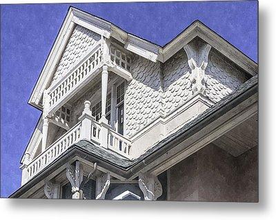 Ornate Balcony With View Metal Print by Lynn Palmer