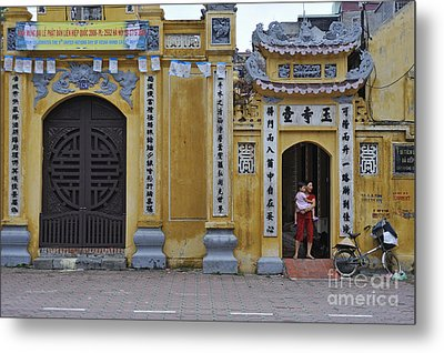 Ornate Buildings In The City Centre Of Hanoi Metal Print