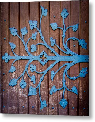 Ornate Church Door Hinge Metal Print by Mr Doomits