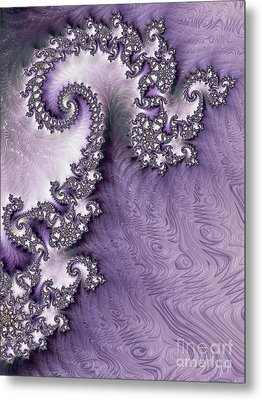 Ornate Lavender Fractal Abstract One  Metal Print