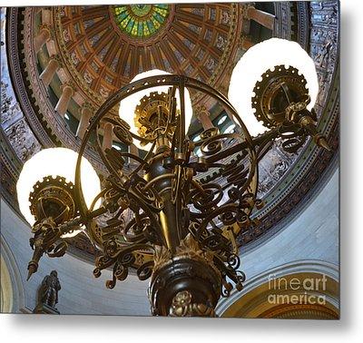 Ornate Lighting - Sprngfield Illinois Capitol Metal Print