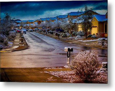 Oro Valley Winter No.54 Metal Print by Mark Myhaver