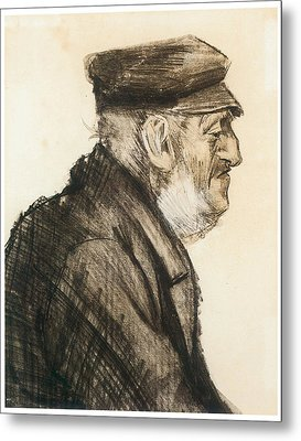 Orphan Man Bust-length Metal Print by Vincent van Gogh