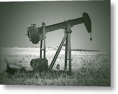 Orphans Of The Texas Oil Fields Metal Print by Christine Till