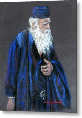 Orthodox Priest From Athens Greece Metal Print by Shirley Leswick