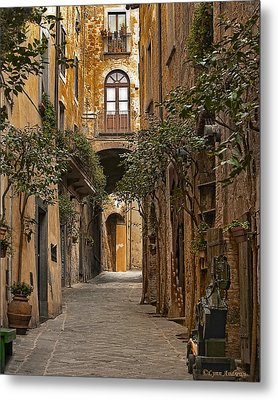 Orvieto Side Street Metal Print by Lynn Andrews
