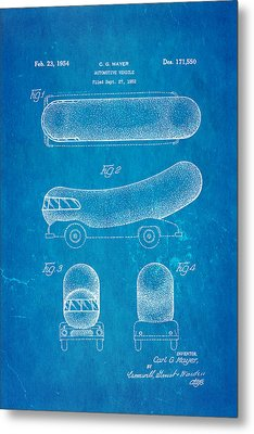 Oscar Mayer Wienermobile Patent Art 1954 Blueprint Metal Print by Ian Monk