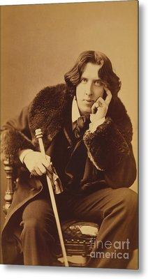 Oscar Wilde 1882 Metal Print by Napoleon Sarony