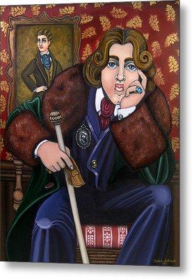 Oscar Wilde And The Picture Of Dorian Gray Metal Print by Victoria De Almeida