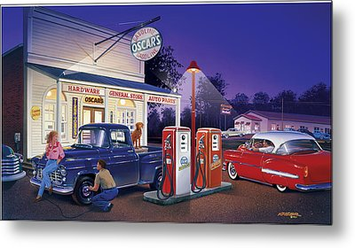 Oscar's General Store Metal Print by Bruce Kaiser