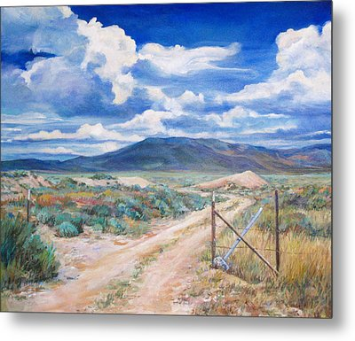 Osceola Nevada Ghost Town Metal Print by Donna Tucker