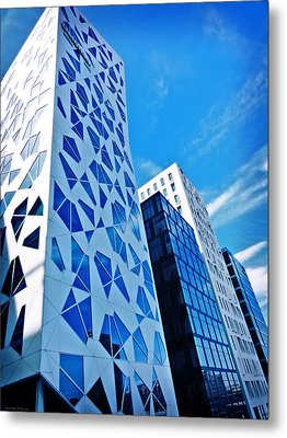 Oslo Architecture No. 2 Metal Print by Mary Machare