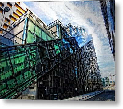 Oslo Architecture No. 4 Metal Print by Mary Machare
