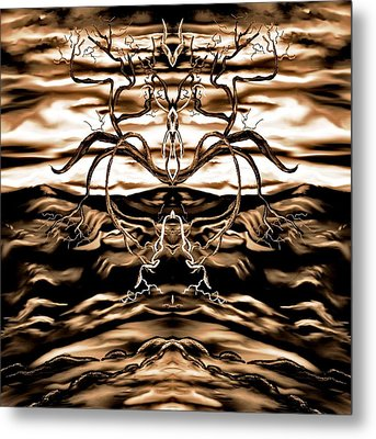 Metal Print featuring the digital art Osmar - The Lord Of The Second Dimension by Yolanda Raker