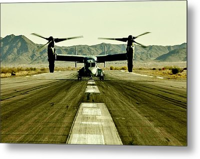 Osprey Takeoff Metal Print by Benjamin Yeager