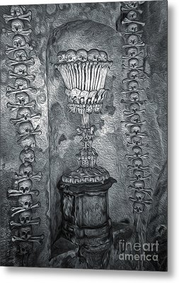 Ossuary Sedlec - Chalace Metal Print by Gregory Dyer
