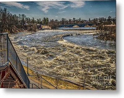 Oswegatchie River Flooding Metal Print