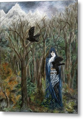 The Raven God Metal Print by FT McKinstry