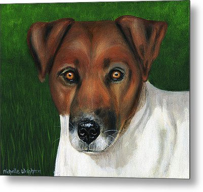Otis Jack Russell Terrier Metal Print by Michelle Wrighton