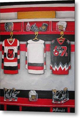 Ottawa 67's Player Locker Room Metal Print by Jill Alexander