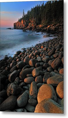 Otter Cliffs - Acadia National Park Metal Print by Thomas Schoeller