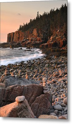 Otter Cliffs Morning Metal Print by Stephen  Vecchiotti