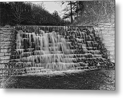 Otter Lake Waterfall Blue Ridge Parkway Metal Print