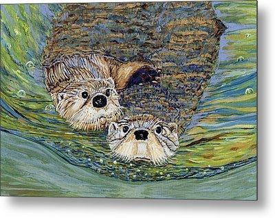 Otter Pals Metal Print by Sandra Wilson