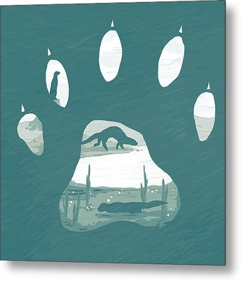 Otter Paw Metal Print
