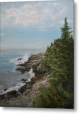 Otter Point - New England Metal Print by Sandra Nardone