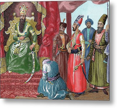 Ottoman Empire Sultan Welcoming Metal Print