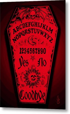 Ouija Coffin Metal Print
