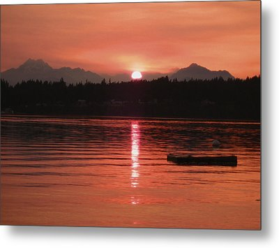 Our Beach At Sunset  Metal Print
