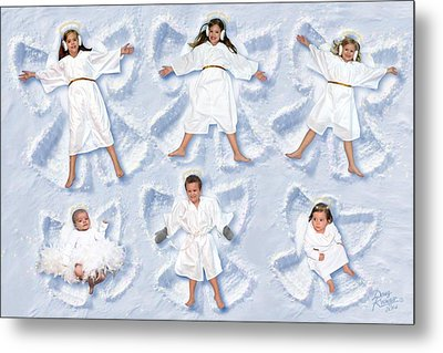Metal Print featuring the photograph Our Christmas Snow Angels by Doug Kreuger