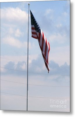 Our Flag Metal Print by Joseph Baril