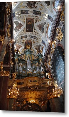 Our Lady Of Czestohowa Basilica Interior Metal Print by Jacqueline M Lewis
