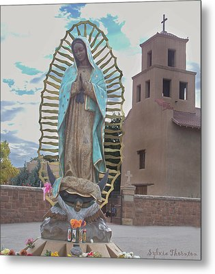 Metal Print featuring the photograph Our Lady Of Guadalupe by Sylvia Thornton