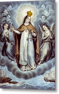 Our Lady Of Mercy Circa 1856  Metal Print by Aged Pixel